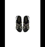 Rinascimento Rinascimento sandalen met studs zwart