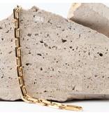 Souvenirs de Pomme Souvenirs de Pomme Link medium chain armband goud