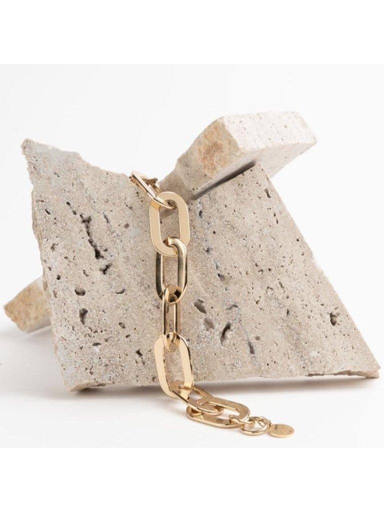 Souvenirs de Pomme Souvenirs de pomme Amara chain ketting goud