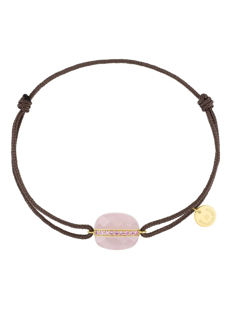 Morganne Bello Morganne Bello Aurora koord armband roze taupe