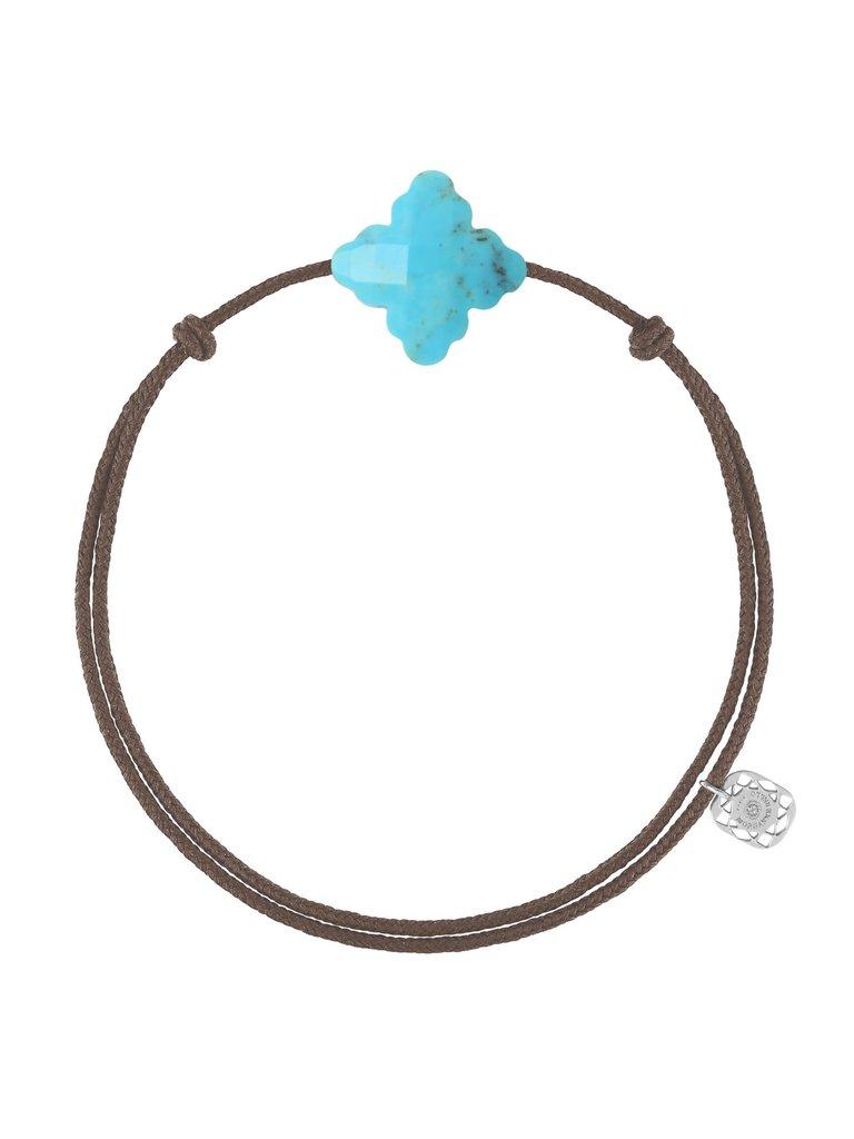 Morganne Bello Morganne Bello koord armband barok turquoise taupe