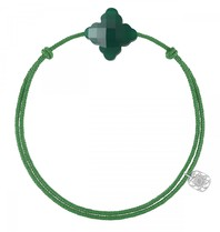 Morganne Bello Morganne Bello koord armband barok groen