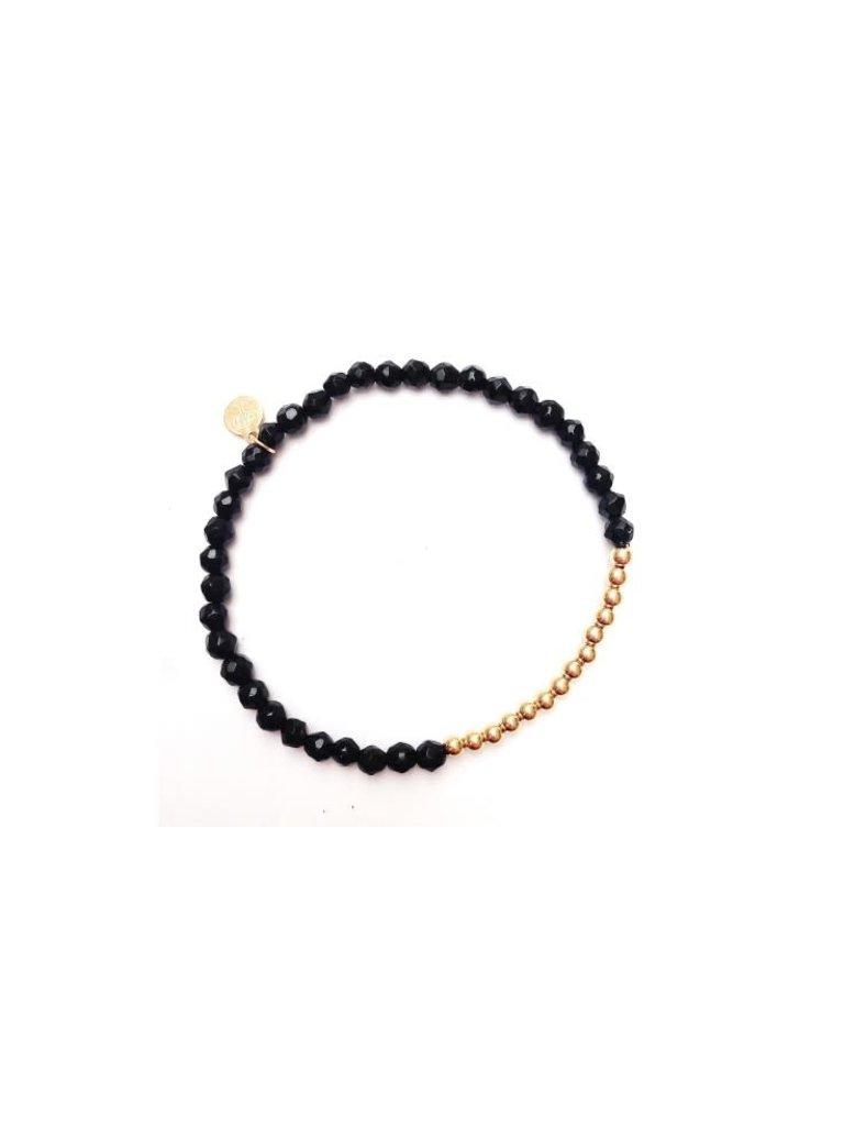 Pscallme Pscallme Wings Onyx Gold Coloured armband