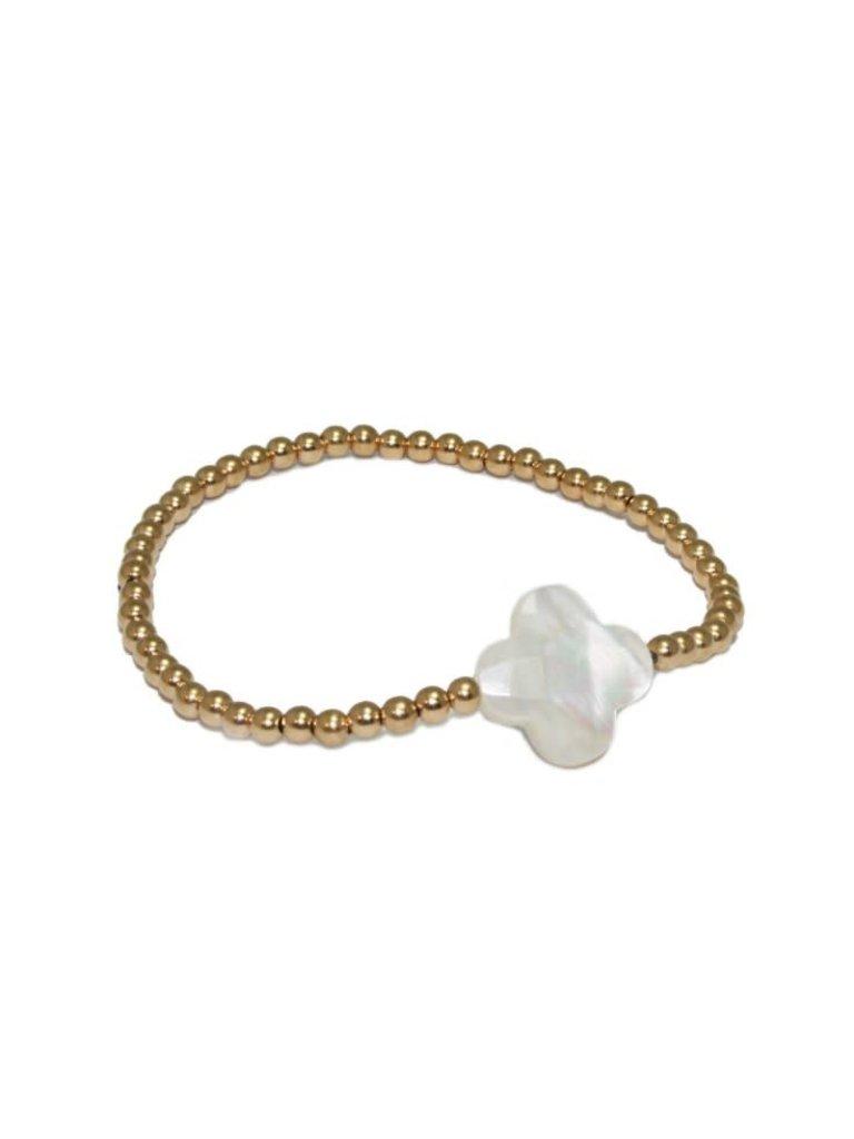 Pscallme Pscallme Rome Pearl Gold Coloured armband
