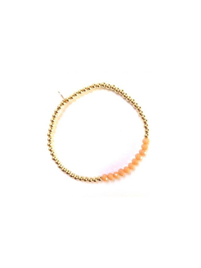 Pscallme Pscallme Chance Peach Gold coloured armband