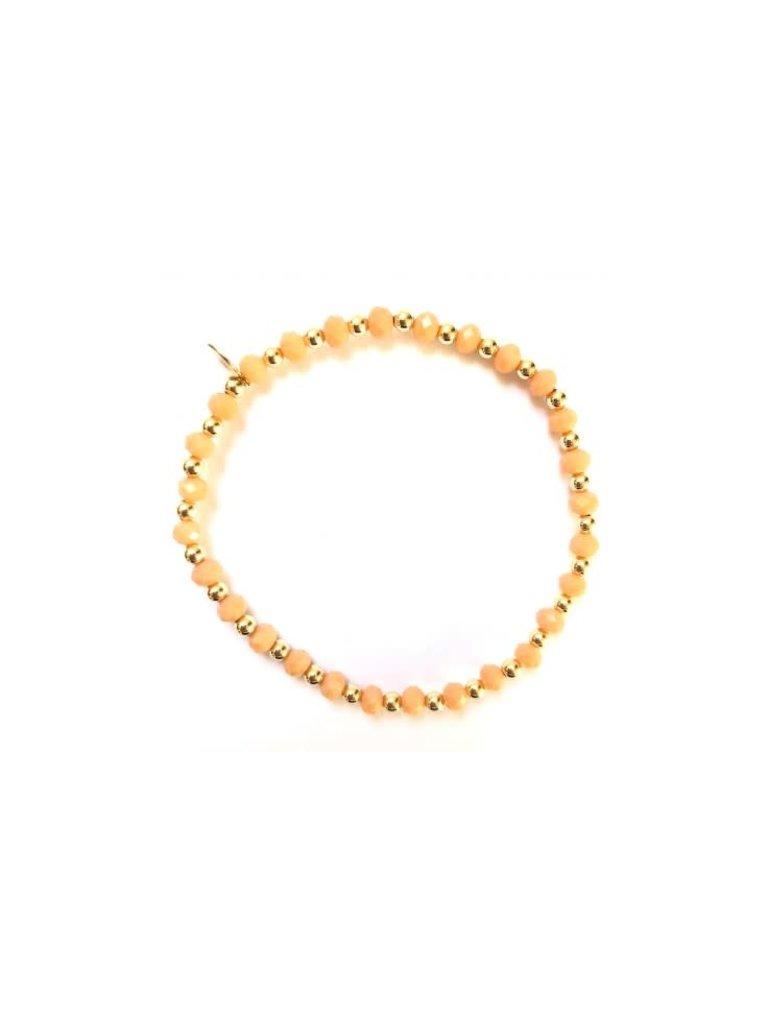 Pscallme Pscallme Mix Peach gold coloured armband