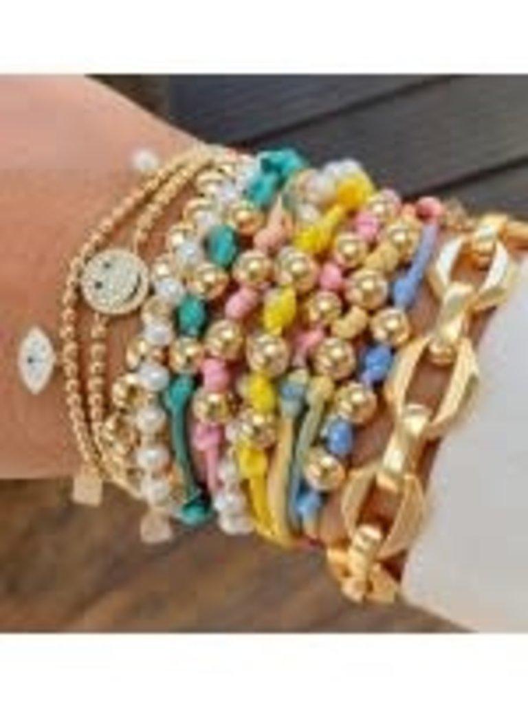 Pscallme Pscallme Smiley CC Gold coloured armband