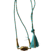 Pscallme Pscallme Love amor turquoise goldplated ketting