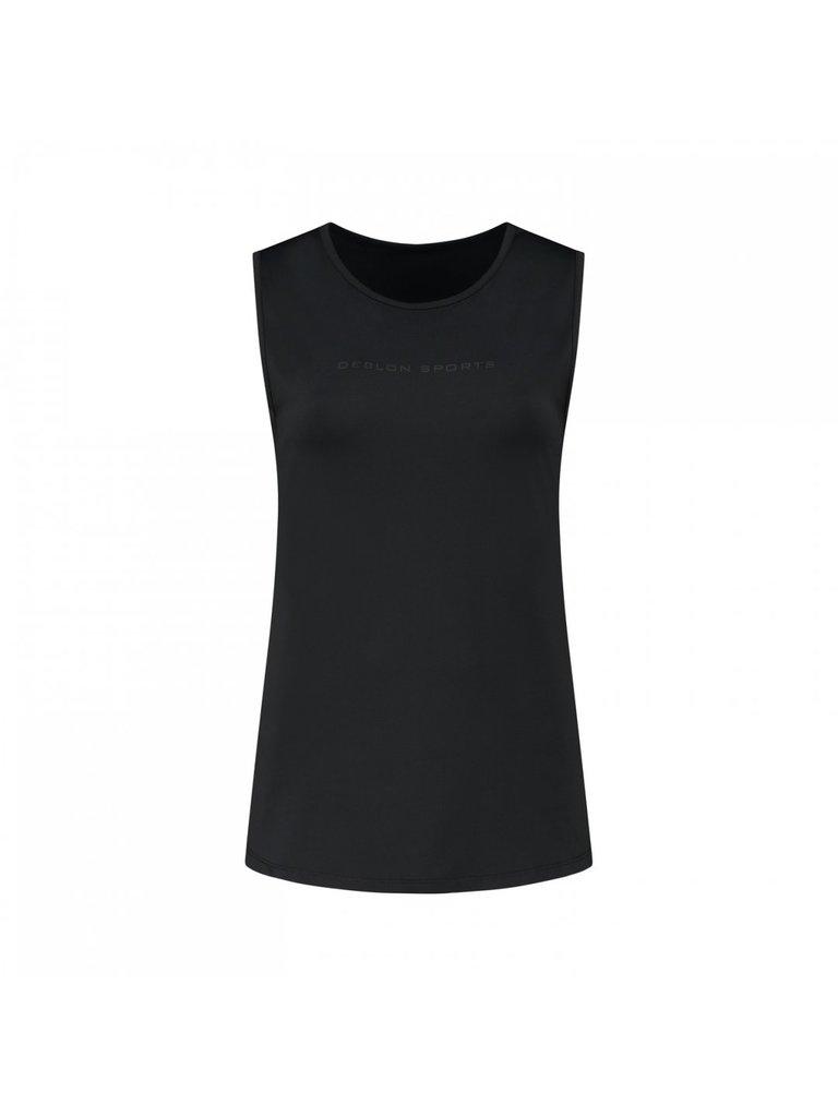deblon sports Deblon Sports Jackie sleeveless logo top zwart