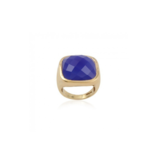 Pscallme Pscallme Ring stone blue goldplated