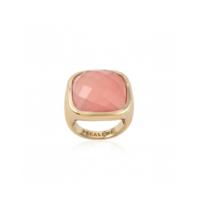 Pscallme Pscallme Ring stone rose quartz goldplated