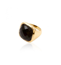 Pscallme Pscallme Ring stone onyx goldplated
