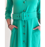 Est'seven Est'Seven Rio Basic maxi dress emerald groen