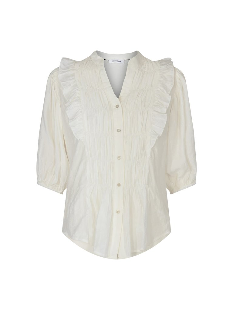 Co'couture Co'Couture Avery Smock shirt wit