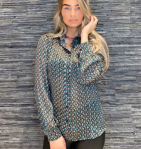 Est'seven Est'Seven Gulsah blouse met print groen