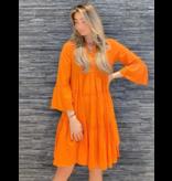 Devotion Devotion midi Ella jurk oranje