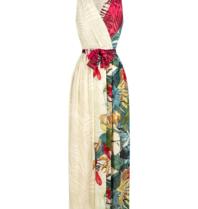 Rinascimento Rinascimento maxi jurk met ceintuur en print multicolor