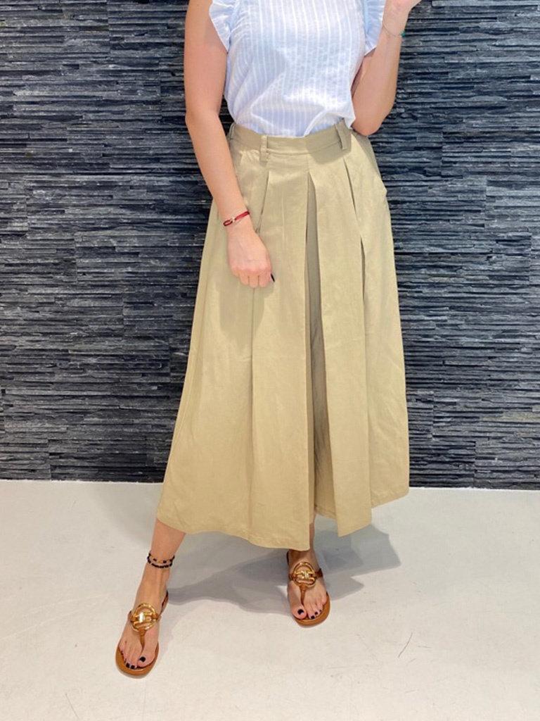 Rinascimento Rinascimento wijd uitlopende culotte beige