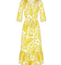 Rinascimento Rinascimento midi jurk met pailsey print geel wit