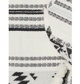 Devotion Devotion rok met print en volant zwart wit