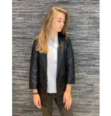 Co'couture Co'Couture Andrea leather blazer zwart