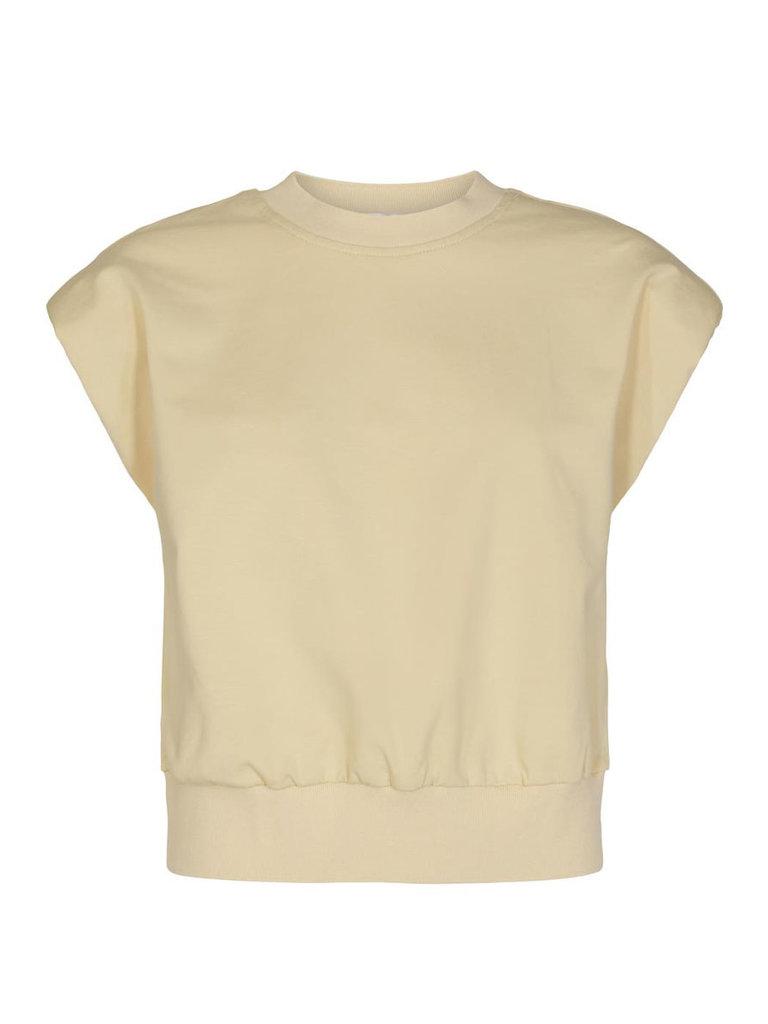 Co'couture Co'Couture Sean mouwloze sweater  creme