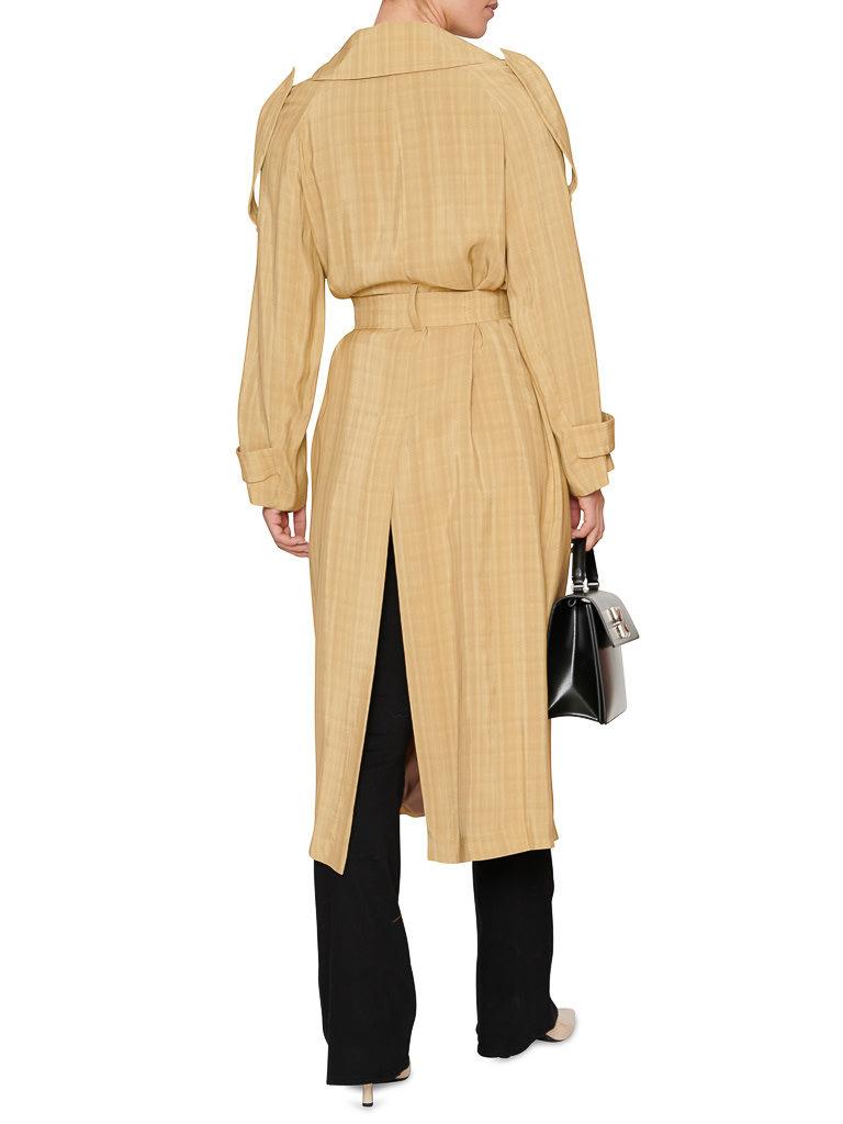Erika Cavallini Erika Cavallini double breasted camel trench coat