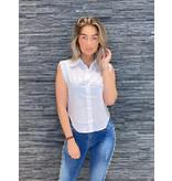 Rinascimento Rinascimento mouwloze blouse wit
