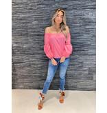 Rinascimento Rinascimento off-shoulder blouse neon roze