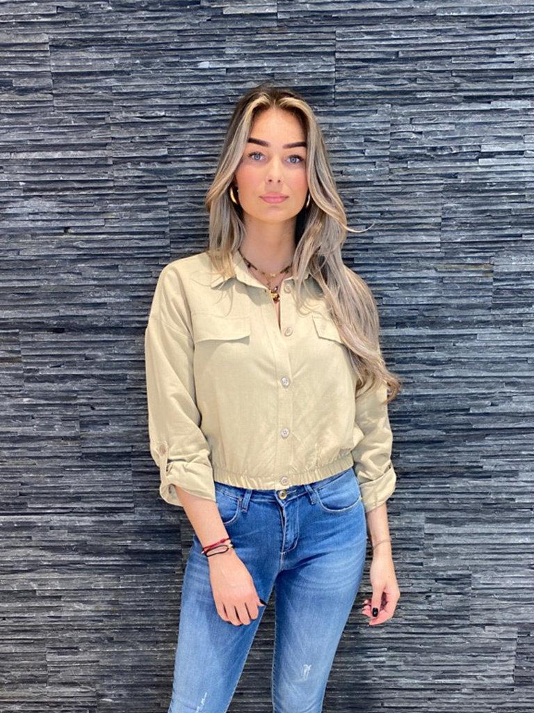 Rinascimento Rinascimento cropped blouse beige
