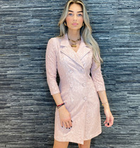 Rinascimento Rinascimento kanten blazerjurk roze