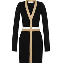 Rinascimento Rinascimento tricot jurk met strepen zwart