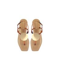 Rinascimento Rinscimento sandalen met goud details bruin