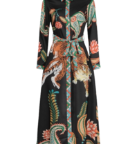 Est'seven Est'Seven Tiger maxi dress multicolor