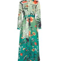 Est'seven Est'Seven Toekan big maxi dress multicolor