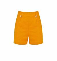 Rinascimento Rinascimento short met knopen en zakken oranje