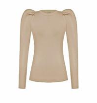 Rinascimento Rinascimento tricot top met pofmouwen beige