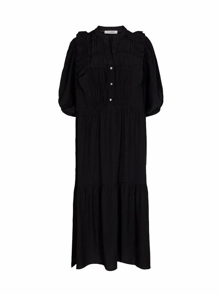Co'couture Co'Couture Samia sun frill dress zwart