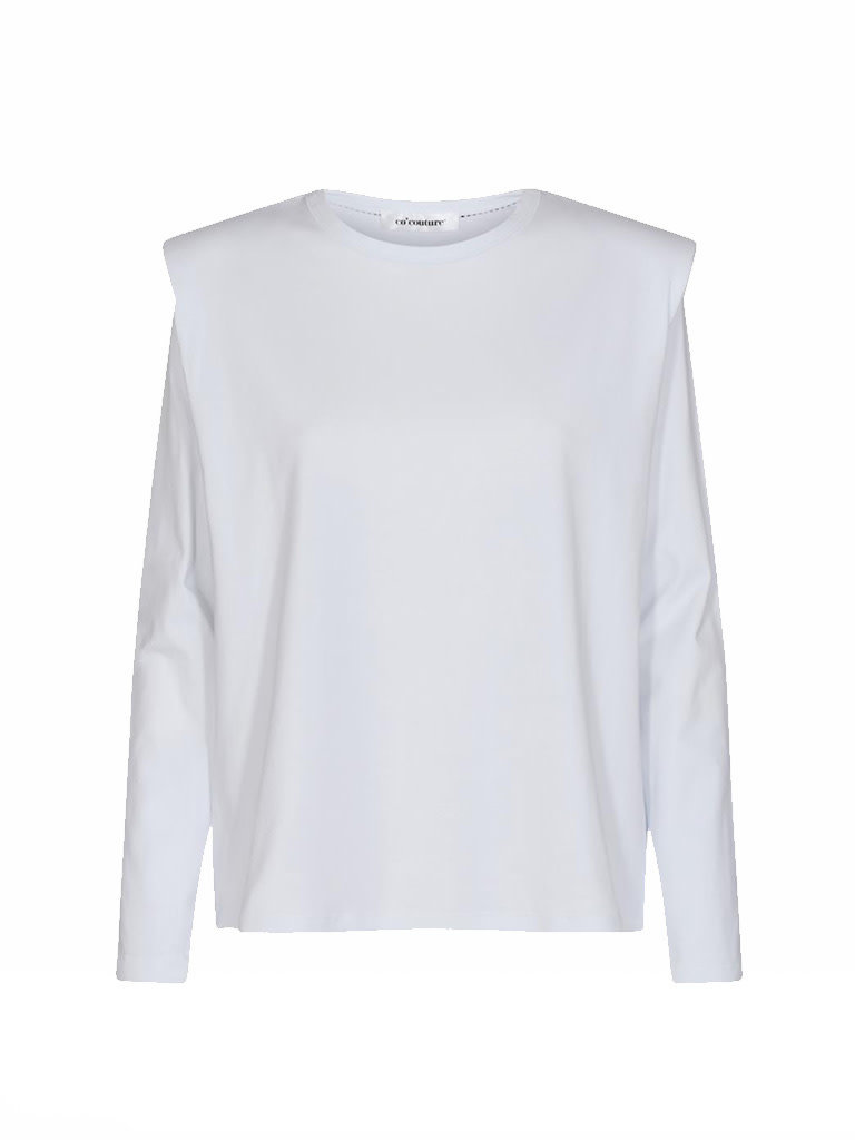 Co'couture Co'Couture Eduarda longsleeve tee wit