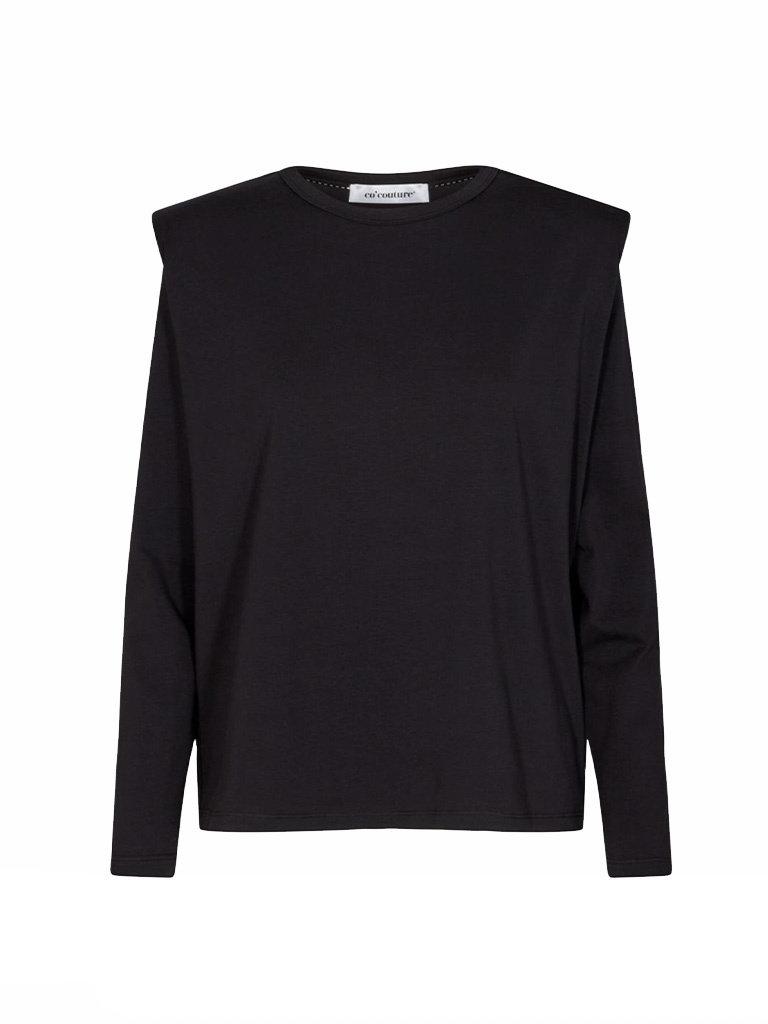 Co'couture Co'Couture Eduarda longsleeve tee zwart