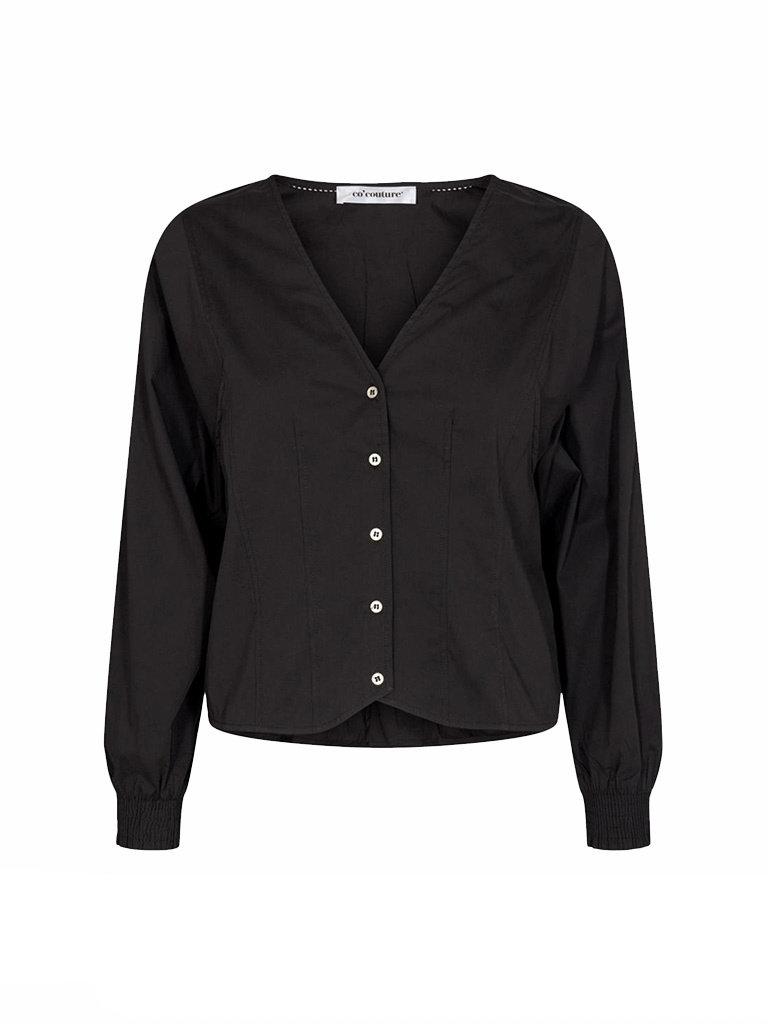 Co'couture Co'Couture Cosmo v-neck shirt zwart