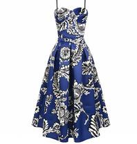 Rinascimento Rinascimento co-ord jurk met print blauw