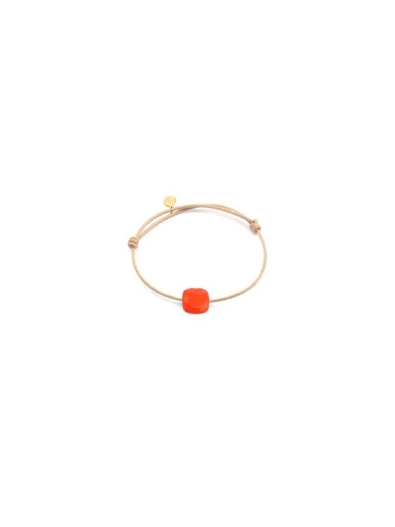 Pscallme Pscallme koord armband met orange