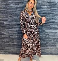 Est'seven Est'Seven Come back leopard maxi jurk