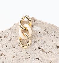 Souvenirs de Pomme Souvenirs De Pomme Gourmet Ivory oorbellen goud