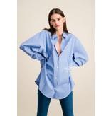 DMN Paris DMN Paris Chloe blouse rayure blauw