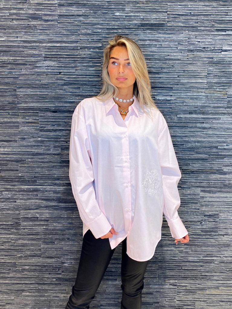 DMN Paris DMN Paris Chloe blouse Blanc rayure rose
