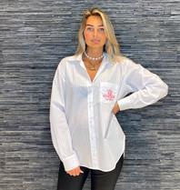 DMN Paris DMN Paris Selma blouse met broderie blanc rose