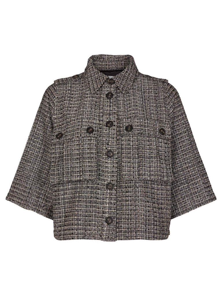 Co'couture Co'Couture Ivalo boucle jacket zwart multicolor