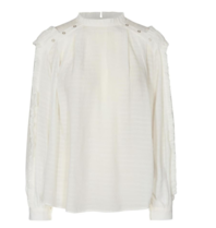 Co'couture Co'Couture Cora blouse met gouden knopen off-white